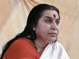 Shri Mataji Nirmala Devi head and shoulders 3/4 profile